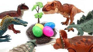 Who's Dinosaur Eggs? Mini Dino In Color Dinosaur Eggs Toy Jurassic World Fun Video