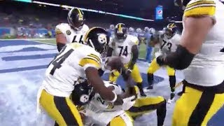 Le'veon Bell Touchdown w/ Bench Press Celebration! | Steelers vs. Lions | NFL