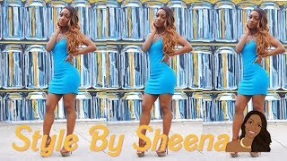 Style By Sheena: How To Style A Blue Thermal Tank Dress Ft. music by Lil Skies