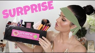 I RECEIVED A MYSTERY BOX FULL OF MAKEUP! Surprise Makeup Challenge \\ ChloeMorello