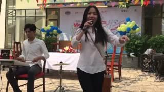 """Nữ sinh hát """" Nếu Như Ngày Anh Đến """" cực hay,cực kute ♥♥♥"""