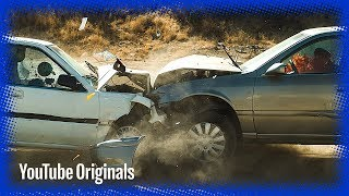 Head on Car Crash in Slow Mo