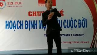 Tiến sĩ, chuyên gia tâm lý Huỳnh Anh Bình với chuyên đề: HOẠCH ĐỊNH MỤC TIÊU CUỘC ĐỜI