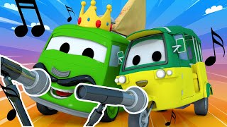 Police car for kids -  Carlo and Tao From Car City Make a Rap Battle  - Car Patrol in Car City !