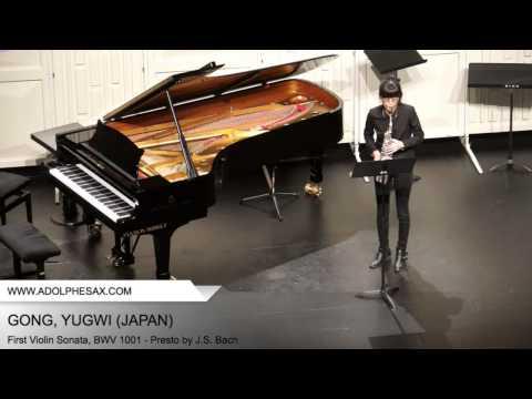 Dinant 2014 - Gong, Yugwi - First Violin Sonata, BWV 1001 - Presto by J.S. Bach