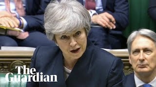 Theresa May defends Brexit delay in parliament