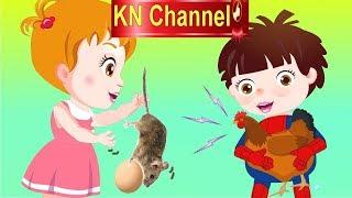 Hoạt hình KN Channel BÉ NA Bé ĐÙA GIỞN VỚI GÀ MẸ ĐANG ẤP TRỨNG   Hoạt hình Việt Nam