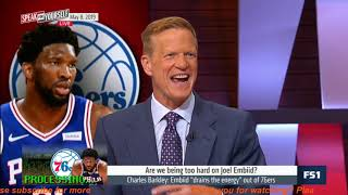 """Whitlock CRITICIZED Embiid is turning himself into a joke, he """"drains the energy"""" out of 76ers 