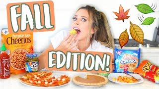 WEIRD FOOD COMBINATIONS! FALL EDITION!