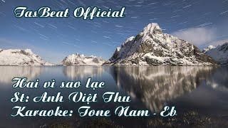 Karaoke Hai vì sao lạc - Tone Nam | TAS BEAT