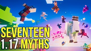 Minecraft 1.17 Seventeen Caves & Cliffs Update Myths [Minecraft Myth Busting 131]