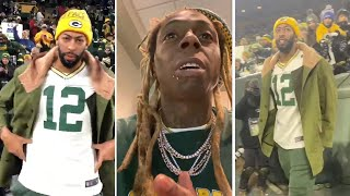 Anthony Davis & Lil Wayne PULL UP TO Support Aaron Rodgers & Packers vs Seahawks!