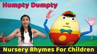Humpty Dumpty Sat On A Wall Rhyme   Learn To Sing Nursery Poems   Preschool Songs   Baby Rhymes