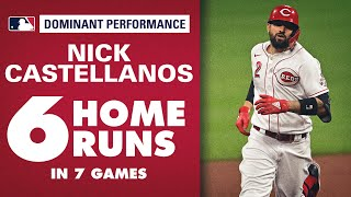 Reds' OF Nick Castellanos on CRAZY tear (6 home runs in 7 games!)