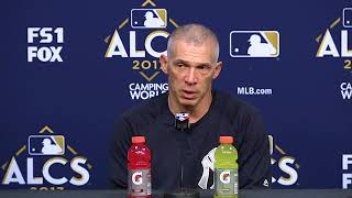 Joe Girardi is touched by team support after mistake