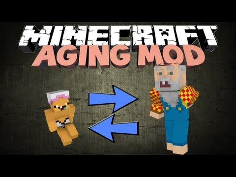 Minecraft the ageing mod start as a baby die as an old steve