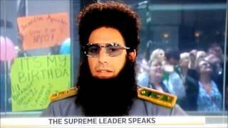 The Dictator (Sacha Baron Cohen) threatens Matt Lauer's family on Today Show