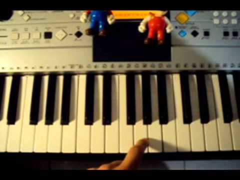 tutorial Super Mario Bros Piano facil (How to play Super Mario on Piano)