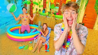 TURNED MY HOUSE INTO A BEACH!!