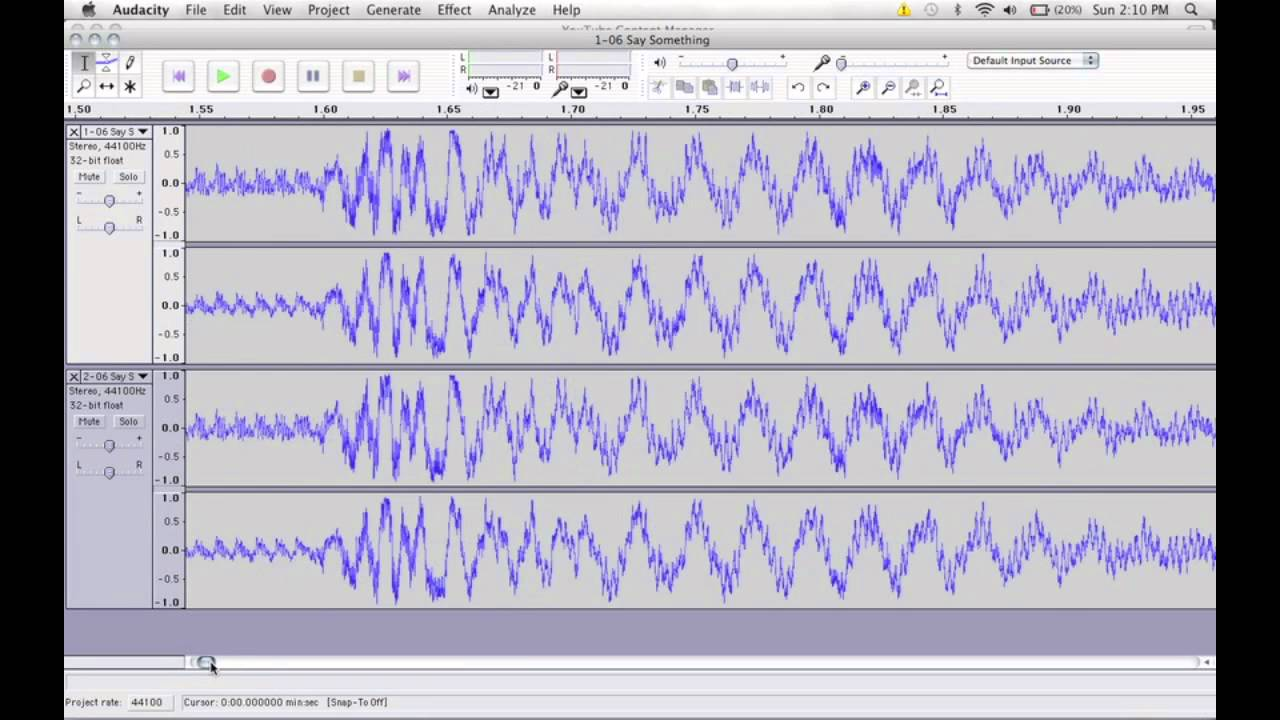 How to make a song acapella using audacity