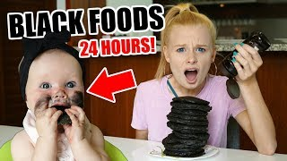 WE ATE ONLY BLACK FOODS for 24 HOURS!