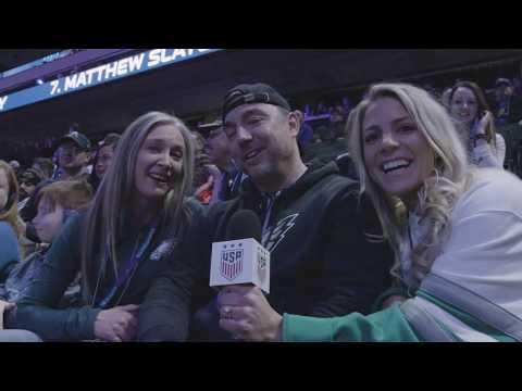 Julie Ertz Goes to Super Bowl Opening Night