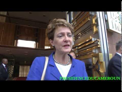 La vice-présidente suisse chez le Chef de l'Etat