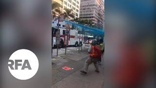 Hong Kong Police Spray Mosque with Blue Dye | Radio Free Asia (RFA)
