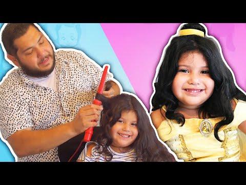 Најслаткото видео за денес: Татковци им прават фризури на ќерките како на омилените Дизни принцези