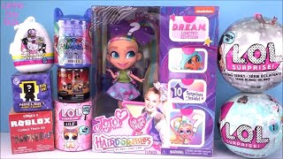 JoJo SIWA Hairdorables LOL Surprise DOLLS Bling Series 1 5 LILS Hello KITTY TOY Unboxing