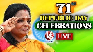 CM KCR Flag Hoisting Live- 71st Republic Day Celebrations..