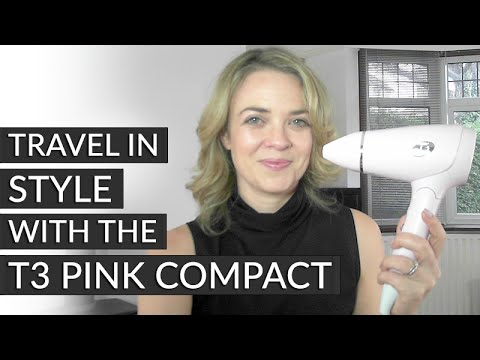 Travel in style with the T3 Pink Compact by CURRENTBODY