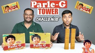 EPIC PARLE G BISCUITS TOWER CHALLENGE | Parle G Biscuits Competition | Food Challenge