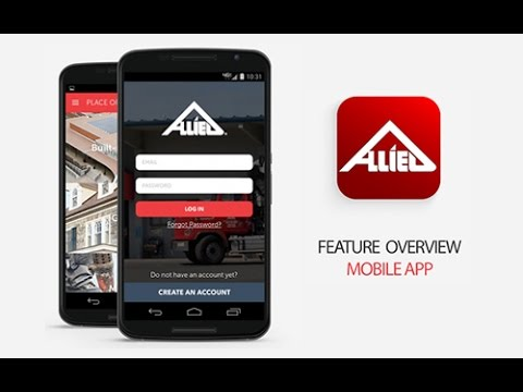 Features of the Allied Building Products Mobile App