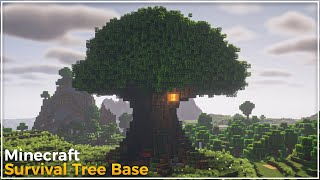 Minecraft: How To Build A Giant Tree Base | Large Survival Base Tutorial