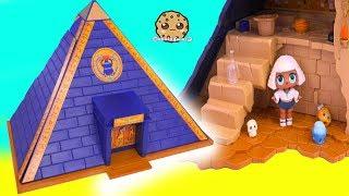 LOL Surprise Doll Explores Playmobil Egypt Pyramid - Toy Video