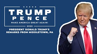 LIVE: President Donald Trump in Middletown, PA #Pennsylvania