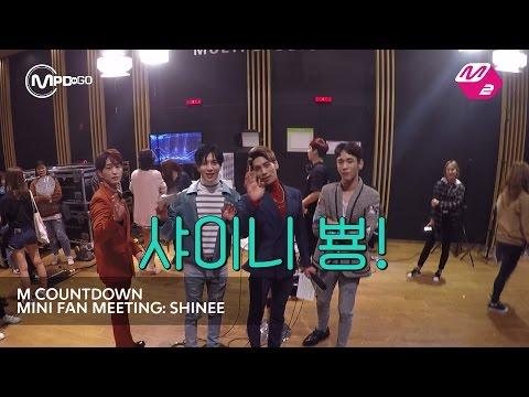 샤이니 미니팬미팅 SHINee MINI FAN MEETING Mnet MCOUNTDOWN 161006