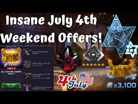 Insane July 4th Weekend Deals! 6* Nexus! 20k Unit Bundle! - Marvel Contest of Champions