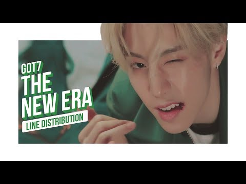 GOT7 - The New Era Line Distribution (Color Coded) | 갓세븐