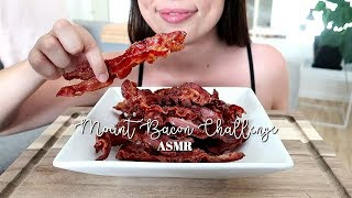 ASMR: Mount Bacon CHALLENGE *40 pieces of bacon*   Crispy Eating Sounds   No Talking ♡