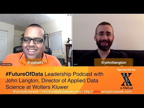 @JohnTLangton from @Wolters_Kluwer discussed his #AI Lead Startup Journey #FutureOfData #Podcast