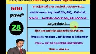 Spoken English Through Telugu I Ramu I 9390495239