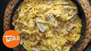 How To Make Roast Chicken And Bacon Alfredo | Twisted