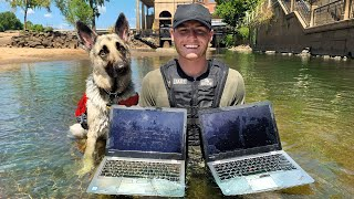 Found 2 Stolen Laptops While Searching Drained River! VR180 (River Treasure)