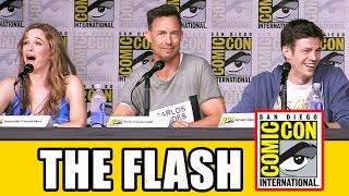 THE FLASH Season 3 Comic Con Panel (Part 1) - Grant Gustin, Candice Patton, Keiynan Lonsdale