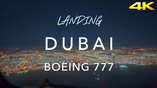 DUBAI | BOEING 777 LANDING 4K