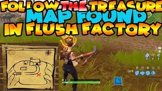 Follow The Treasure Map Found In Flush Factory
