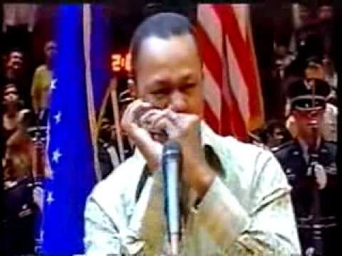 Harmonica Master Frédéric Yonnet performs the National Anthem at Madison Square Garden