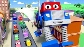 Carl le Super Truck -  Le camion à ressorts - La Ville des Voitures 🚓 🚒 Dessin animé pour enfants